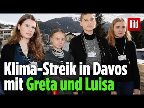 🔴 Klima Streik in Davos mit Greta und Luisa Live vom 24 01 2020 Englisch