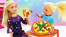 Новые видео с куклой Барби - Штеффи готовит Пиццу ПлейДо! - Онлайн игры для девочек.