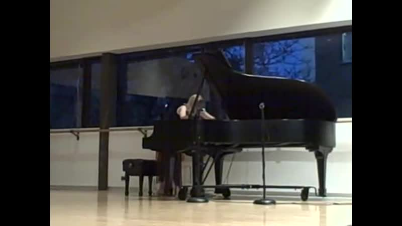 George Crumb - 1 of 5 pieces for piano (performed by Kelly Moran)
