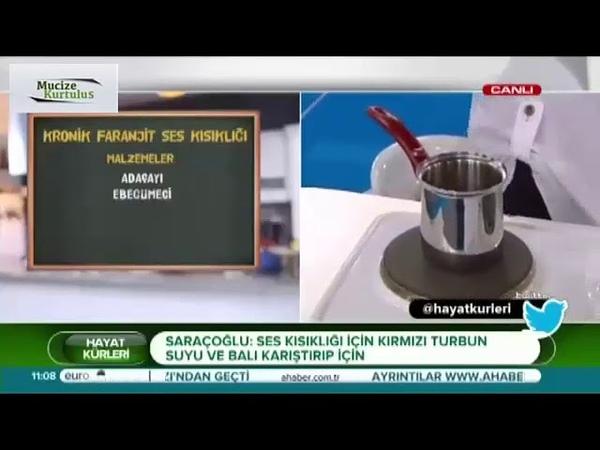 Prof İbrahim Saraçoğlu Kronik Faranjit ve Ses Kısıklığı için Mucize Kür Tarifi