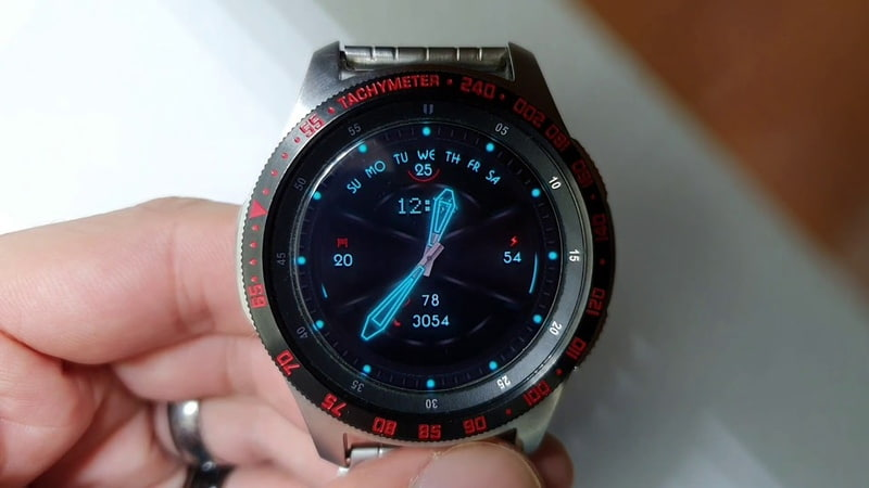 NEON GT WW32 Multicolor watchface for Samsung Gear Samsung Galaxy watch