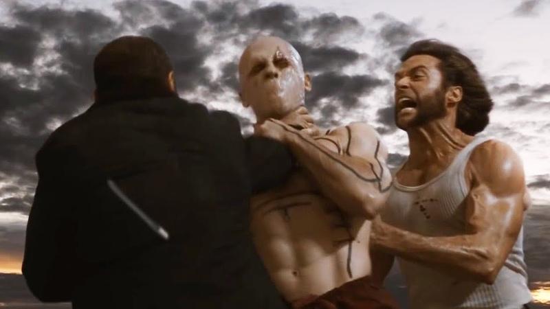 Логан и Виктор убивают Дэдпула Люди Икс Начало Росомаха 2009 год