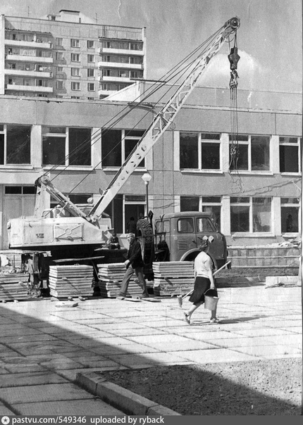 Калининград МО (ныне Королёв). Строительство школы  17.