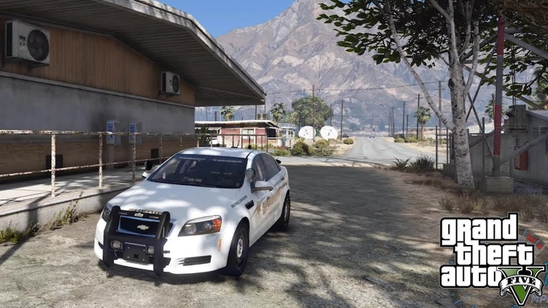 GTA 5 MOD - CAPRICE GRAPESEED PATROL - NO COMMENTARY (GTA 5 REAL LIFE POLICE PC MOD)