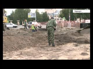 Фундамент церкви обнаружили археологи у площади Свободы в Барнауле