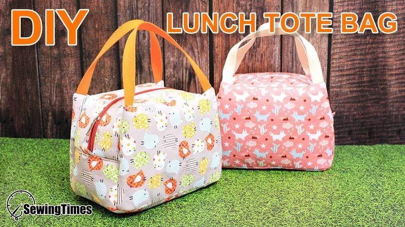 DIY Lunch Tote Bag 도시락 가방만들기   Weekend Picnic Hand Bag Tutorial [sewingtimes]