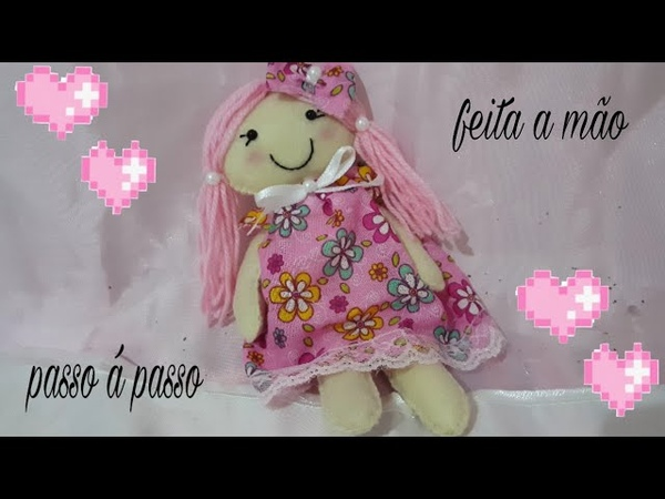 Como fazer uma boneca em feltro super facil com Cris Pinheiro