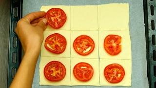 Готовлю несколько дней подряд! Слойки с томатами - исчезают со стола не успев остыть! |