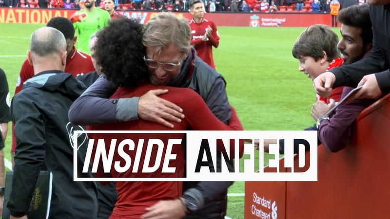 Inside Anfield Liverpool 3 0 Southampton Tunnel cam featuring Firmino Salah and celebrations