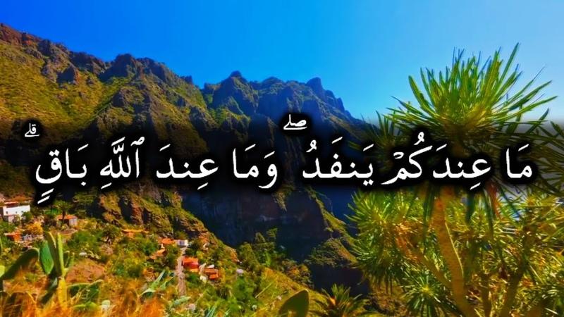ما عندكم ينفد وما عند الله باق - الآيات 95-105 من سورة النحل للشيخ ياسر الدوسري