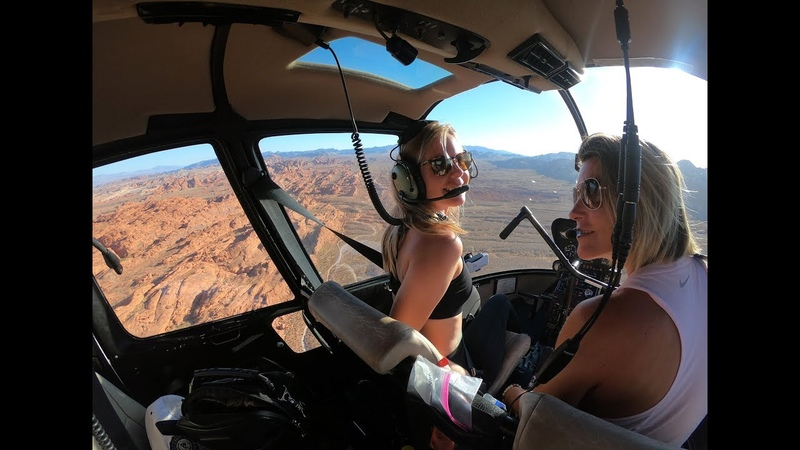ДЕВУШКА ПИЛОТ ЛЕТИТ НА ГЕЛИКОПТЕРЕ Gyrocopter Girl flying R44 Raven II in Nevada Utah and Arizona 2019 10