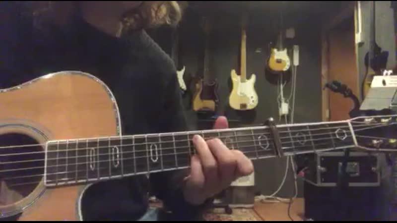 Как играть All Is Violent All Is Bright GIAA на гитаре с каподастром