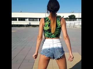 Dance reggaeton танец реггетон (j balvin-siempre papi nunca inpapi)