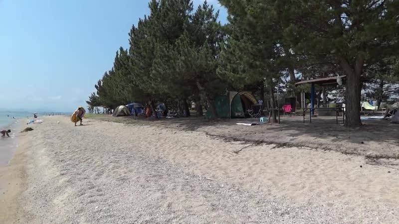 Пляж Оми Майко на озере Бива