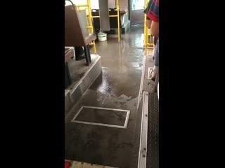 Последствия сильного дождя в Новокузнецке