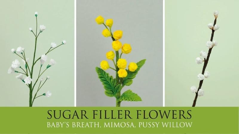 How to Make Baby's Breath, Mimosa Pussy Willow | Sugar Filler Flowers Part 3
