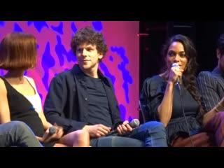 """Zombieland- Double Tap"" Panel - Jesse Eisenberg, Rosario Dawson, Zoey Deutch - 10-12-19"