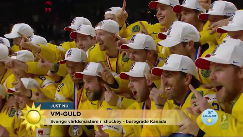 Sverige tog hem VM-guldet Vilken GLÄDJEYRA! - Nyhetsmorgon (TV4)