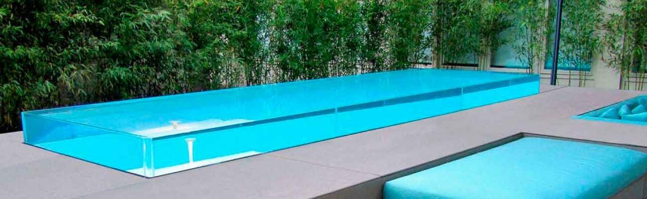 Остекление бассейнов акрилом