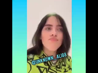 billie sent this video to a fan with cancer who just got her first surgery