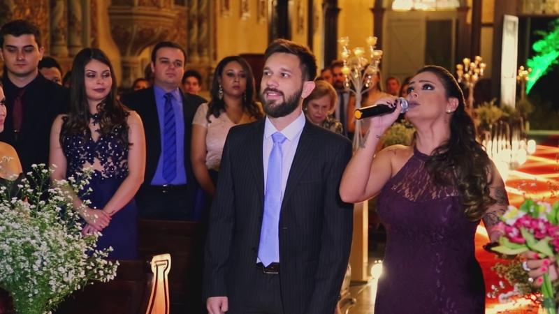 Noivo e padrinhos cantam ALELUIA (Hallelujah) - Casamento Lucas Berton e Patrícia Devens