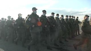 Тренировка парадных расчетов в Ставрополе