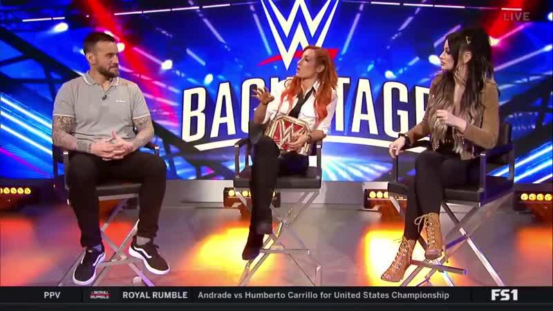 SBMKV Video СМ Панк Пэйдж и Бекки Линч о матче которыми они наиболее гордятся шоу WWE Backstage