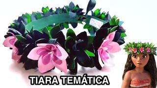 Tiara de flores temática Moana by Gaby Mendes / Dicas de como cortar com ferro de solda / DIY -PAP