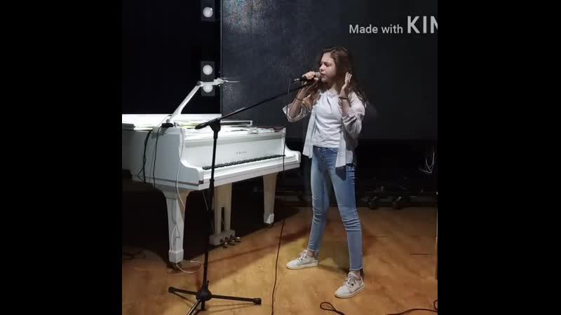 Лера Базыкина вокальная репетиция 25 07 2020