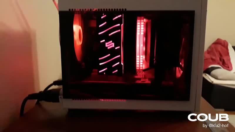 Сравнение шума KFA2 GeForce RTX 2060 1-Click OC [26NRL7HPX7OK] с AMD Radeon RX 580 при полной загрузке