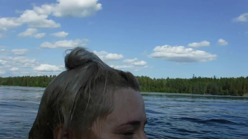 Прыжок Егора (вид с воды). Пестово 2019