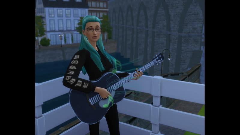 Луиза бренчит на гитарке
