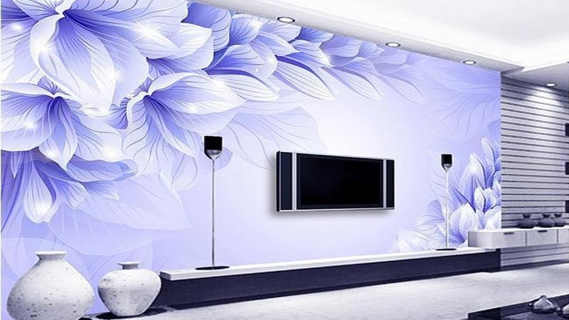 Top 50 Tv Wall decoration Ideas   3D Wallpaper for TV cabinet   living room bedroom