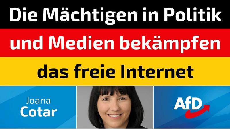Joana Cotar AfD Die Mächtigen in Politik und Medien bekämpfen das freie Internet