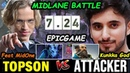 MIDLANE BATTLE OGTopson Riki vs Attacker Kunkka GOD Dota 2 7 24 pro Gameplay