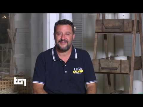 MATTEO SALVINI AL TG1 (RAI 1, 09.08.2019)