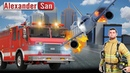 ПОЖАР В АЭРОПОРТУ Симулятор пожарного Мультик про машинки Airport Firefighters Simulation Gameplay