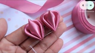 Amazing Kansazhi Flowers - Hand Embroidery Works - Ribbon Tricks & Easy Making Tutorial #41
