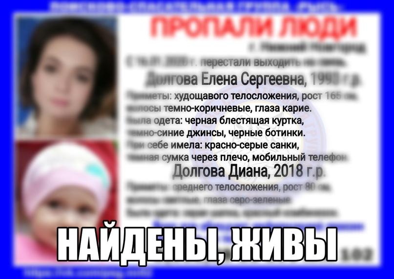 Долгова Елена Сергеевна, 1993 г.р. Долгова Диана, 2018 г.р. г. Нижний Новгород