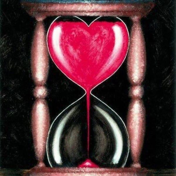 картинки песочных часов с сердцем