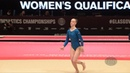 SAZONOVA Irina (ISL) - 2015 Artistic Worlds - Qualifications Floor Exercise