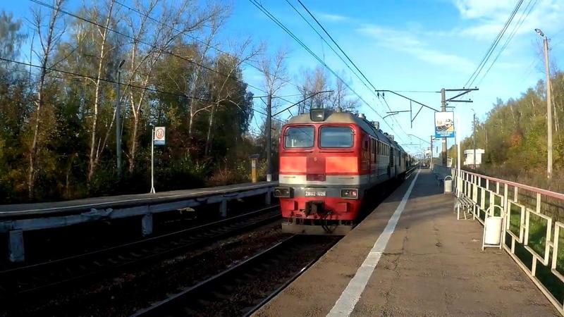 Тепловоз 2М62 1029 платформа Родинка 26 09 2019