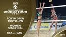 Women's Semi Final BRA vs CAN 4* Tokyo JPN 2019 FIVB Beach Volleyball World Tour