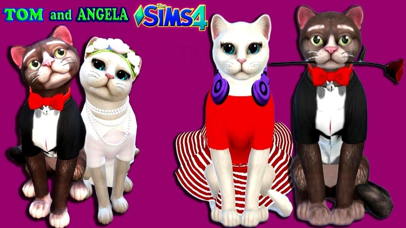 The Sims 4 Naughty Cats Tom and Angela