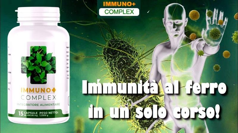 Le capsule immunitarie IMMUNO Complex Immunita al ferro in un solo corso