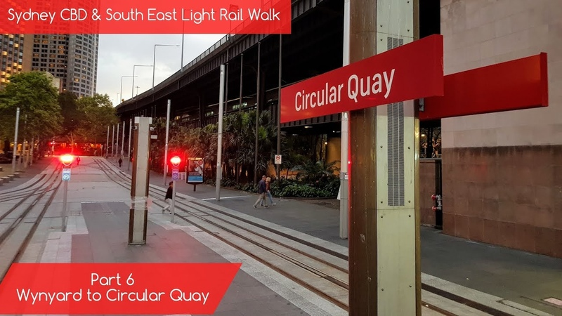 Sydney Trains Vlog 1624 Sydney CBD South East Light Rail Walk Part 6 Wynyard to Circular Quay