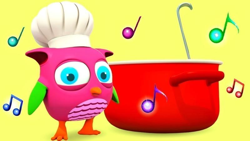 Çizgi film. Baykuş Hop Hop ile çorba yapalım! Bebek şarkıları dinle ve öğren!