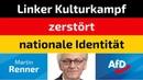 Martin Renner (AfD) - Linker Kulturkampf zerstört nationale Identität