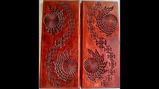 Геометрическая резьба по дереву. Урок 35 часть 6 (geometric wood carving)