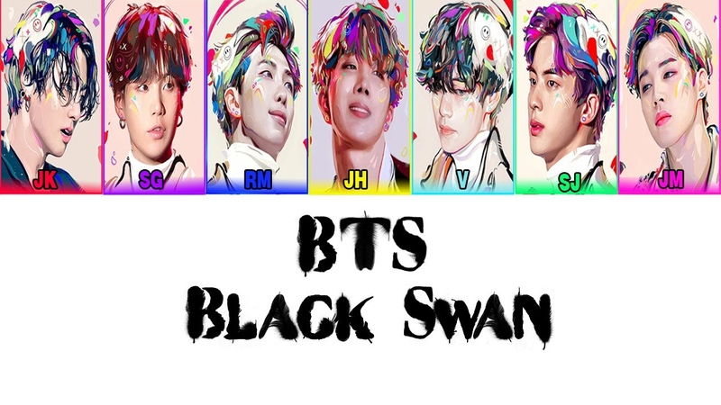 Karaoke RUS SUB BTS Black Swan Чёрный лебедь Rus cyrillization
